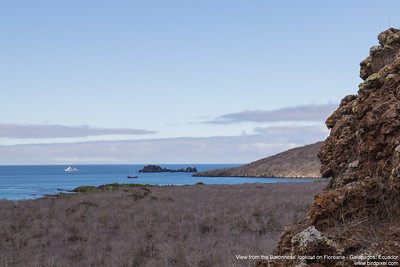 View from the Baronness' lookout on Floreana - Galapagos, Ecuador