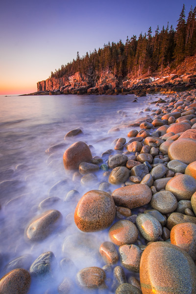 Boulder Beach and Otter Cliffs. Acadia National Park, Maine