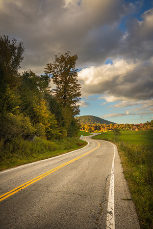 Fall Up Ahead. Ludlow, Vermont