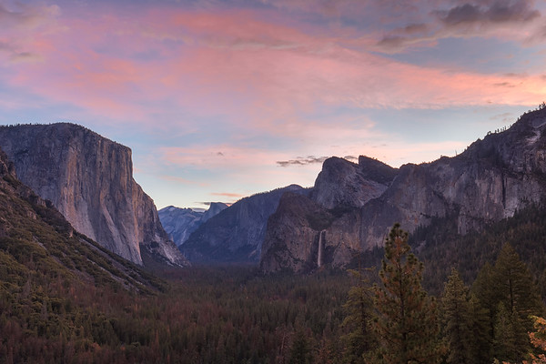 Yosemite - Tunnel View Blue Hour