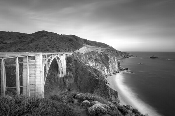 Bixby Bridge Black and White