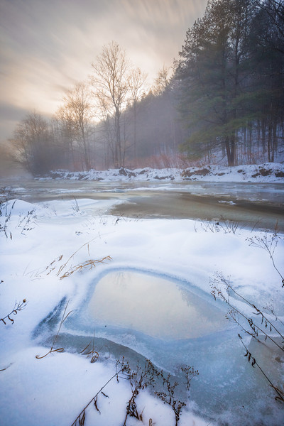 Winter Morning Mist. Grafton, Vermont