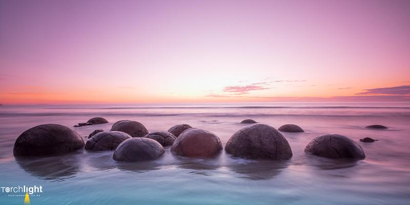 Moeraki Pink Boulders