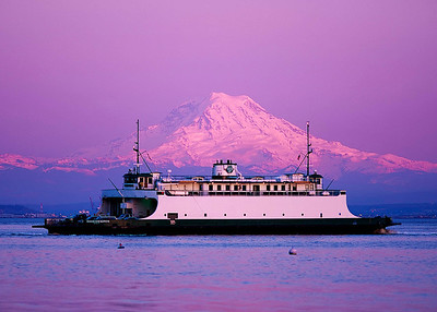 """""""The Old Rhody"""" One of the grand old ladies of the Washington State Ferry system, the ferry Rhododendron still plies the waters of Puget Sound...here, from Vashon Island to Tacoma."""
