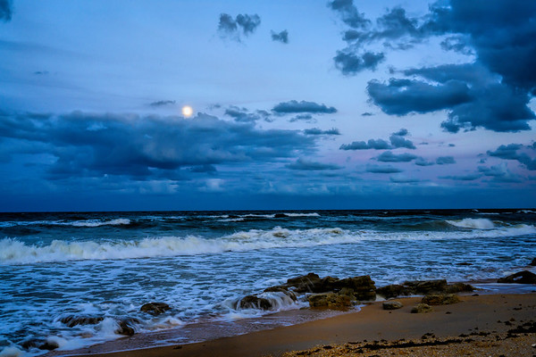 Moonrise on Hammock Beach