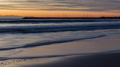 Dawn on Apollo Bay harbour