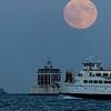 Moonrise over Ledge Light
