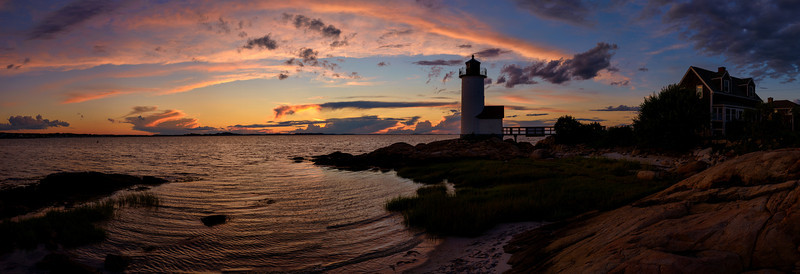 Annisquam Light Sunset Silhouette