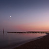 Late September sunset - long exposure - the earth/moon moved!