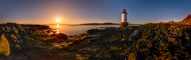 Fort Pickering Light at Sunrise