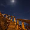 Moon over Moonstone Beach