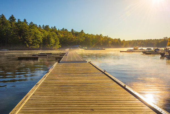 Muskoka Lakes In Early Morning Mist - Algonquin Provincial Park, Nipissing, South Part, Ontario, Canada