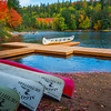 Autumn Lakeside Color On Oxtongue Lake - Algonquin Provincial Park, Nipissing, South Part, Ontario, Canada