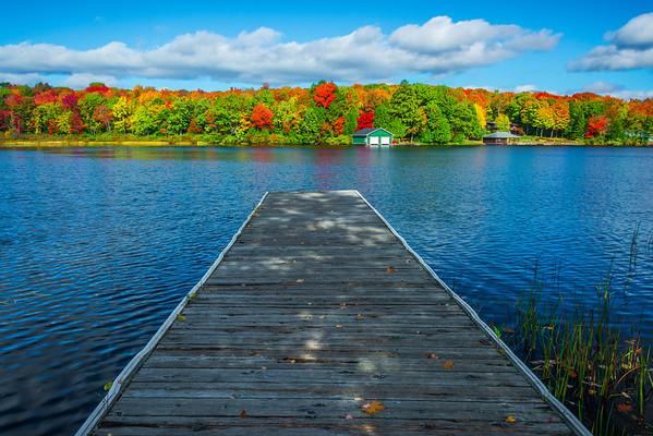 Runn Off Deck At The Lake
