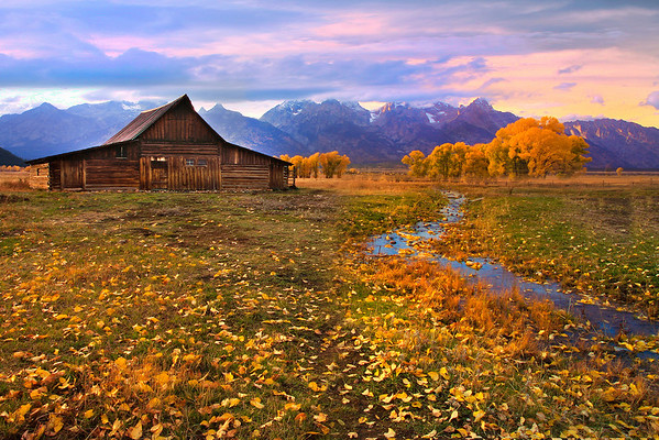 Path Right To The Moulton Barn - Mormon Row, Grand Teton National Park, Wyoming