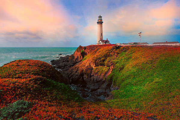 Colors Surround Pigeon Point Lighthouse - Big Sur, California