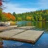 Reflections Of Color Along Shore - Algonquin Provincial Park, Nipissing, South Part, Ontario, Canada