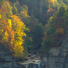Top Of Taughannock Falls At Last Light - Taughannock Falls State Park, Ithaca, New York