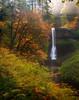 A Break Of Light Over The Falls - Silver Falls State Park, Oregon