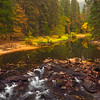 Colors From Pohono Bridge - Lower Yosemite Valley, Yosemite National Park, CA