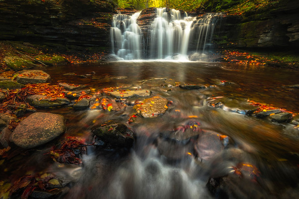 Down At The Base Of The Falls-Ricketts Glen State Park, Benton,  Pennsylvania
