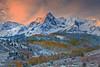 Alpenglow Winter Peaks - Dallas Divide, Colorado