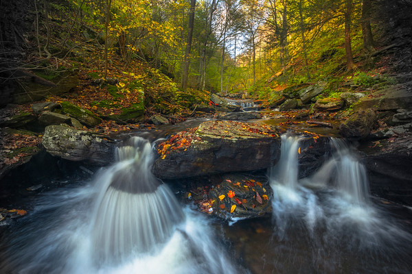 The Motion Of Water And Autumn Together- Ricketts Glen State Park, Pennsylvania