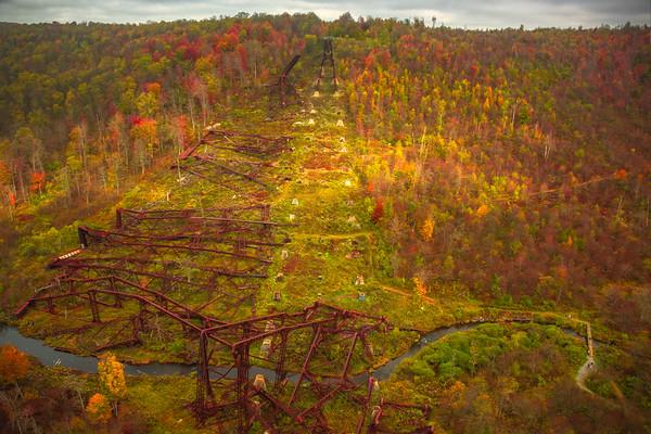 Kinzua Railroad Bridge Tornado Leftover Kinzua Railroad Bridge, Pennsylvania