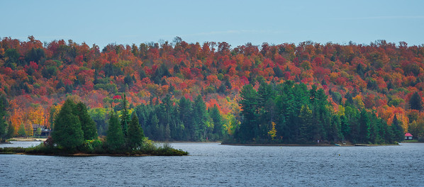 Pano_Algonquin Highlands In Full Color - Algonquin Provincial Park, Nipissing, South Part, Ontario, Canada