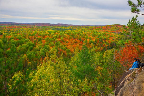 Admiring The View From Atop - Algonquin Provincial Park, Nipissing, South Part, Ontario, Canada