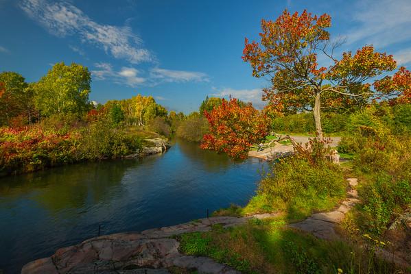 Hidden River In Killarney Provincial Park - Algonquin Provincial Park, Nipissing, South Part, Ontario, Canada