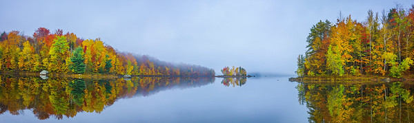 Foggy Morning On The Reservoir_Pano - Vermont