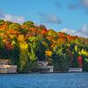 Summer Cabins Along The Autumn Lake