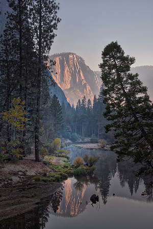 A Look Down The Merced River - Lower Yosemite Valley, Yosemite National Park, CA