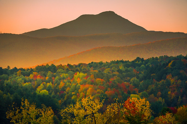 Before Sunrise Over The Fall Valleys - Vermont