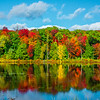 Rainbow Mirror Reflections In Pond