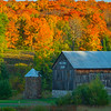 Hillside Farm In Autumn Color - Algonquin Provincial Park, Nipissing, South Part, Ontario, Canada