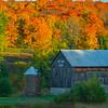Hillside Farm In Autumn Color - Algonquin Provincial Park, Nipissing, South Part, Ontario, Canada
