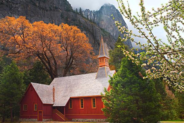 Yosemite Church In Autumn - Yosemite National Park, California