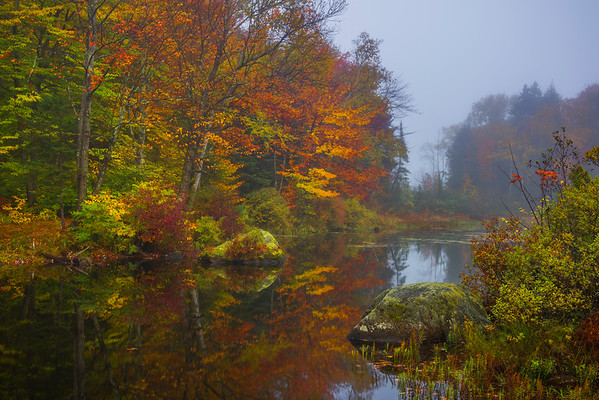 Full Color Peak In Vermont Lake - Vermont