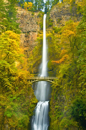 Multnomah Falls In Autumn - Columbia Gorge Scenic Area, Oregon