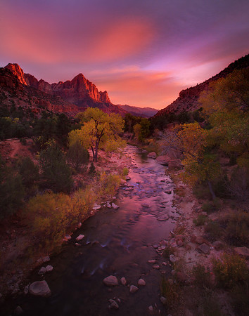 Sunset From The Watchmen - Zion National Park, Utah