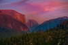 Half Dome At Peak Of Sunset From Big Oak Flat Road - Lower Yosemite Valley, Yosemite National Park, California