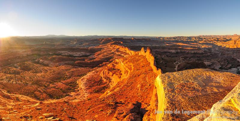 Sunrise at the White Crack - panorama