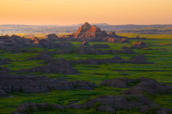 Skipping Stones In Morning Light - Badlands National Park, South Dakota