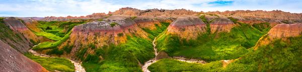 Pano Of Rainbow Valley - Badlands National Park, South Dakota