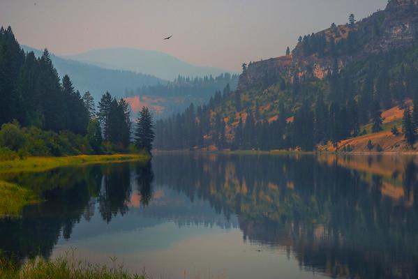 Pattern Reflections Along The Lake Roosevelt Edges - Lake Roosevelt Recreation Area, Central WA