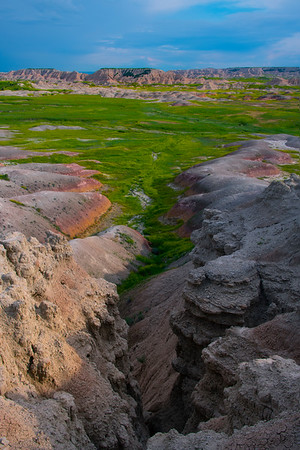A Funnel Leading Into The Badlands - Badlands National Park, South Dakota