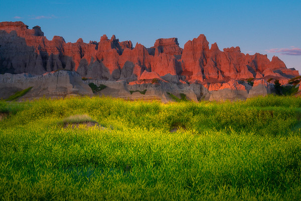 First Light On The Statues - Badlands National Park, South Dakota