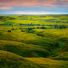 A River Runs Through The Plains Of Yellow - Badlands National Park, South Dakota